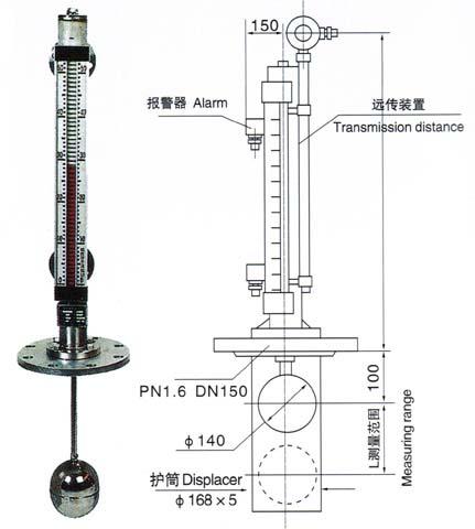 UHZ插入式磁翻板液位计